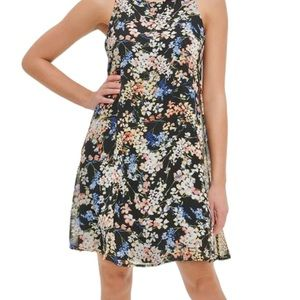 Tommy Hilfiger | Black Floral Sleeveless Dress